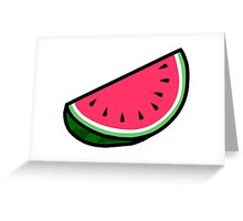 Watermeloon Greeting Card