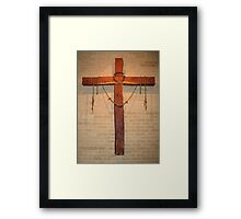 """The Instruments of Crucifixion"": I am thankful for my Faith Framed Print"