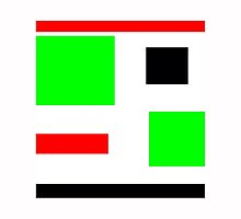 Green, black, red, blocks design by ackelly4