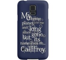 My Home Planet - Typographical Samsung Galaxy Case/Skin
