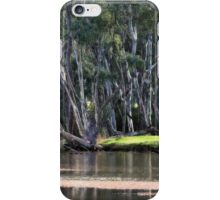 River Scene at Gunbower near Cohuna iPhone Case/Skin