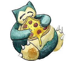 Pokemon pizza party- Snorlax by Cecile Haynes