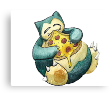 Pokemon pizza party- Snorlax Canvas Print