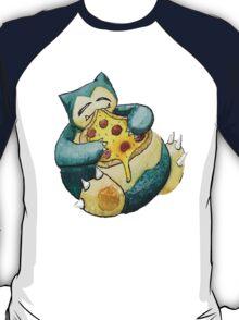 Pokemon pizza party- Snorlax T-Shirt
