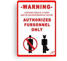 Authorized Fursonnel Canvas Print