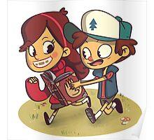Gravity Falls - Dipper & Mabel Poster