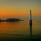 Port Melbourne Lighthouse 6.30am by Melinda Kerr