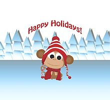 Happy Holidays! Winter Monkey by Eggtooth