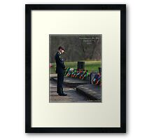 Remembering The Fallen Framed Print