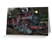 Engine No. 934, Zig Zag Railway Greeting Card