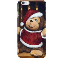 Christmas Bear In A Box iPhone Case/Skin