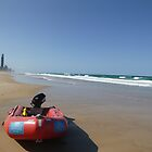 Surf Rescue Boat at Broadbeach by FangFeatures