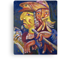 """Golden Calf 14 """"Two Faces in One"""" Canvas Print"""