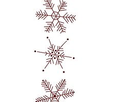 3 Snowflakes Option 1 by Leah Price