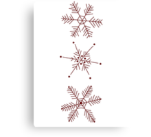 3 Snowflakes Option 1 Canvas Print