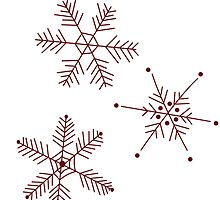 3 Snowflakes Option 3 by Leah Price