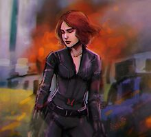 black widow by anephilimrising