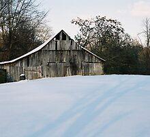 Winter Barn by darthdrew