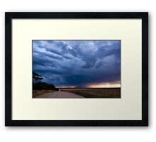 Road to Rain Framed Print
