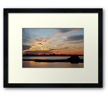 Flight through sheer pink and blue  Framed Print