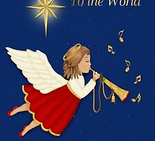 Christmas Trumpet Angel by SpiceTree