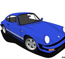 My own 911 in blue by AxelWave