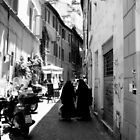 Nuns in a Rome street by David Harris