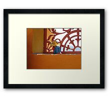 Mexican in a Sombrero Framed Print