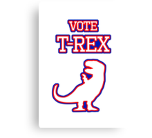 Vote T-Rex Canvas Print