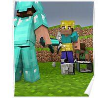 Minecraft Fight Scene Poster