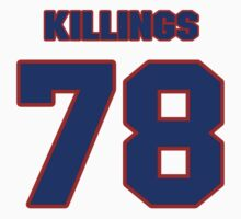 National football player Cedric Killings jersey 78 by imsport