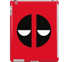 Bored Deadpool Icon No Border iPad Case/Skin