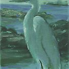 Egret by Linda Eades Blackburn