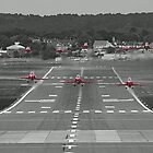 The Red Arrows Take Off - Wheels Up by Colin J Williams Photography