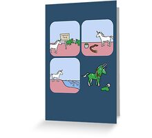 Unicorn and Narwhals as Triceratops - story Greeting Card