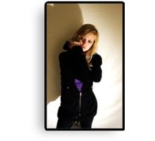 Sanna in black & purple Canvas Print