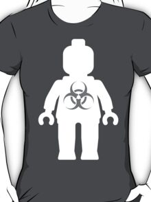 White Minifig with Radioactive Symbol T-Shirt