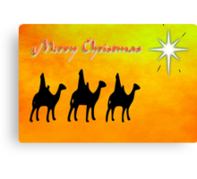 Merry Christmas from the Three Wise Men Canvas Print
