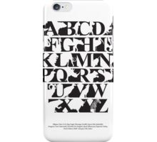Alphabet zoo black and white iPhone Case/Skin
