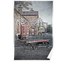 Vintage Hadlow Road in Oils Poster