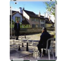 Playing Chess in Zurich iPad Case/Skin