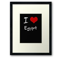I love Heart Egypt Framed Print