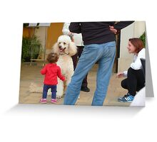 Child and Dog Greeting Card