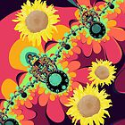Fantasy design with Sunflowers by walstraasart