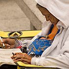 Elderly woman had fallen asleep working cross word puzzel by dmiller804