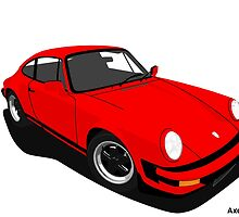 My own 911 in red by AxelWave