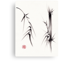 """Tao"" Original sumi-e brush painting on paper. Canvas Print"
