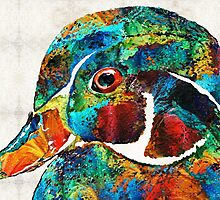 Colorful Wood Duck Art by Sharon Cummings by Sharon Cummings