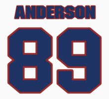 National football player David Anderson jersey 89 by imsport