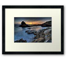 Island Bay Sunset Framed Print